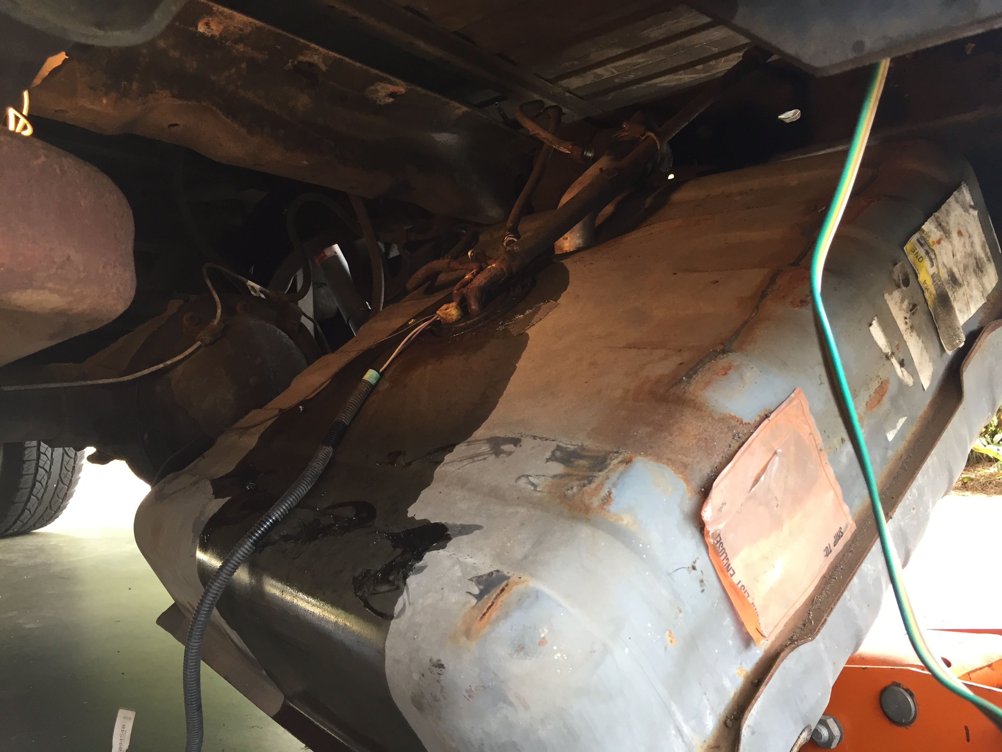 Fuel Pump Replacement : Gas tank removal fuel pump replacement k blazer