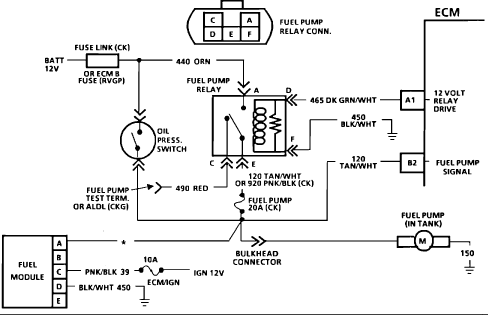 97 Chevy Blazer Fuel Pump Wiring Diagram - Wiring Diagram Data